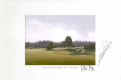 Original autograph on FineArt print. Bernhard Langer | Golf Club Gut Lärchenhof | 3th Down Wind