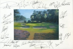 Autographs PGA Tour player | KLM Open 2012 02