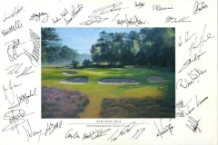 Autographs PGA Tour player | KLM Open 2012 03