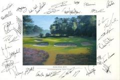 Autographs PGA Tour player | KLM Open 2012 03