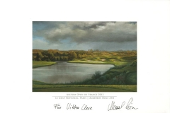 Original autograph on FineArt print. Marcel Siem | Le Golf National Paris | Albatros 2th | Alstom Open de France 2012