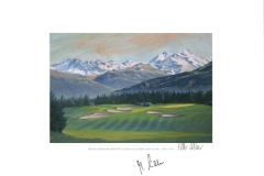 Original autograph on FineArt print. Marcel Siem | Crans sur Sierre Golf Club | 7th