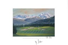 Original autograph on FineArt print. Marcel Siem | Crans sur Sierre Golf Club | 7th
