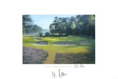 Original autograph on FineArt print. Marcel Siem | Hilversumsche Golf Club | KLM Open 2010