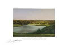 Original autograph on FineArt print. Martin Kaymer | Le Golf National Paris | Albatros 2th | Alstom Open de France 2009