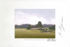 Original autograph on FineArt print. Martin Kaymer | Golf Club Gut Lärchenhof | 3th Down wind