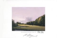 Original autograph on FineArt print. Martin Kaymer   Golfclub München Eichenried   1th C Course
