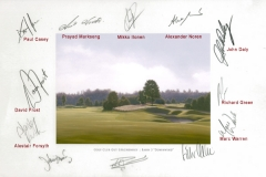 Original autograph on FineArt print | PGA Tour player Mercedes Benz Championship 2008