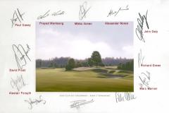 Original autograph on FineArt print | PGA Tour player Mercedes Benz Championship 2008