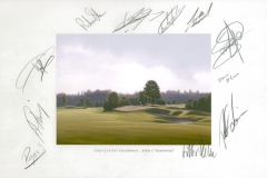 Original autograph on FineArt print | PGA Tour player Mercedes Benz Championship 2008ship2008