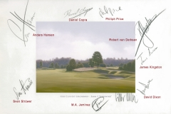 Original autograph on FineArt print | PGA Tour player Mercedes Benz Championship 2008hip2008