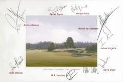 Original autograph on FineArt print | PGA Tour player Mercedes Benz Championship 2008hip2008