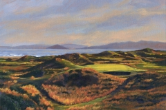Original Ölgemälde auf Leinwand | Royal Troon 8th, 18x24 cm