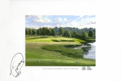 Original autograph on FineArt print. Miguel Angél Jimenez | Golf Club Gut Lärchenhof | 16th Lake View
