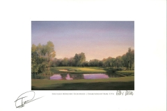 Original autograph on FineArt print. Miguel Angél Jimenez | Golfclub München Eichenried | 11th BMW International Open