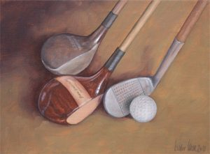 Hickory art of golf memorabilia