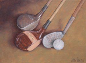 Hickory art of golf memorabilia