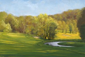 "Impressum ""The golf painter. GolfClub-Essen-Heidhausen-15th"